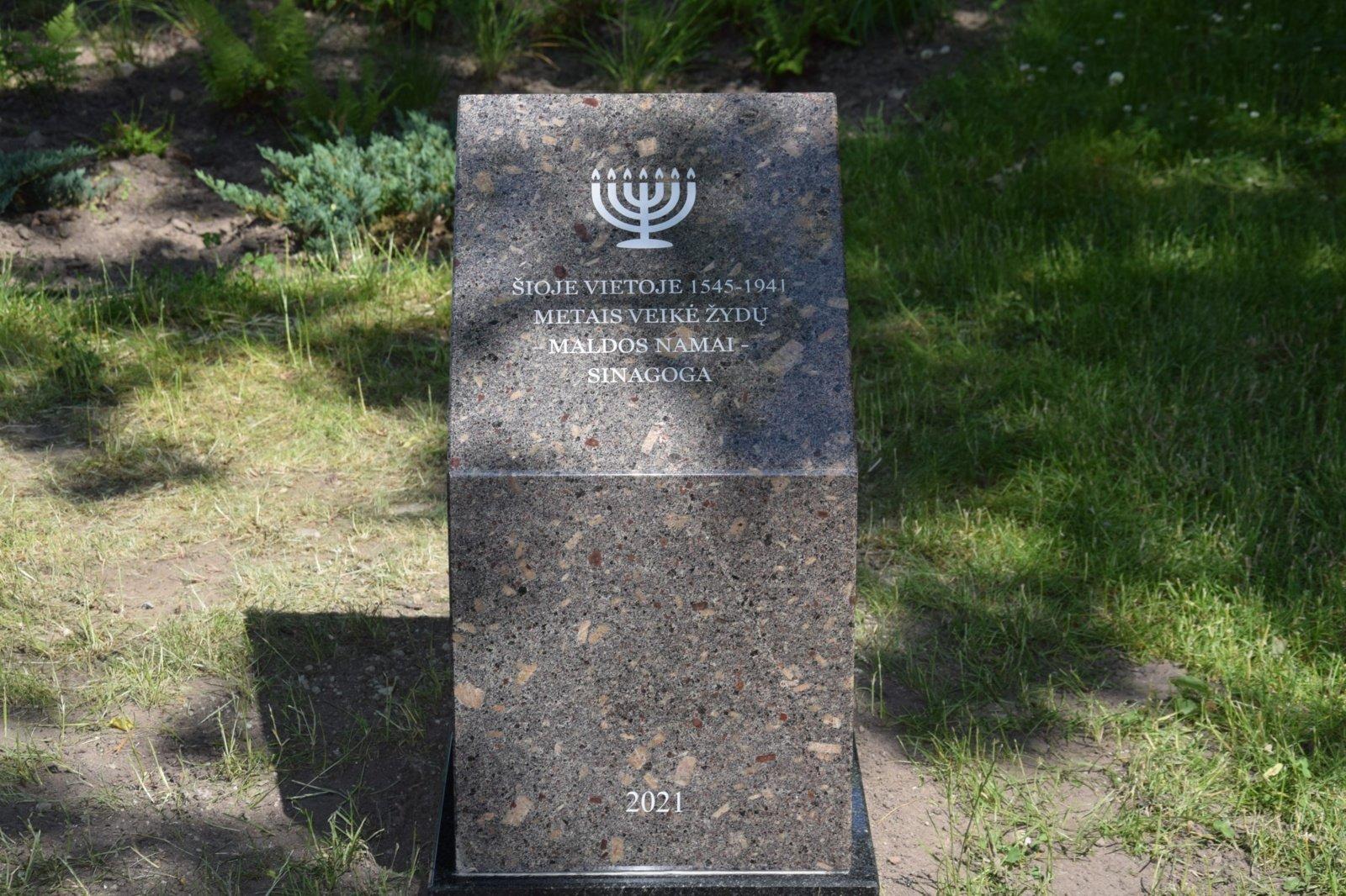 Vilkaviškio sinagogos vietoje – atminimo ženklas