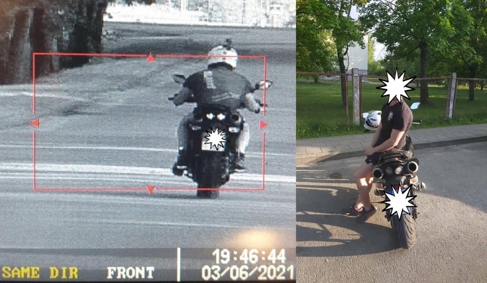 Policijai įkliuvo 131 kilometro per valandą greičiu Šalčininkų miesto parke skriejęs motociklininkas