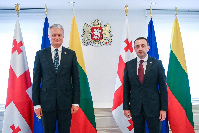 Prezidento susitikime su Sakartvelo vadovais – dėmesys eurointegraciją skatinančioms reformoms
