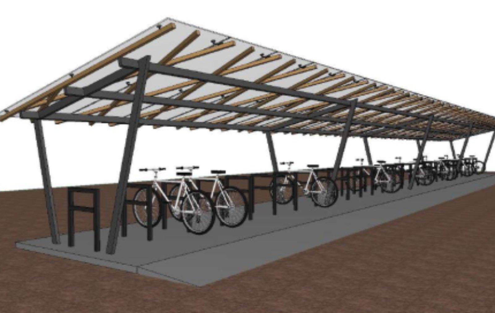 Birštono gimnazijos moksleiviams – nauja dviračių stoginė