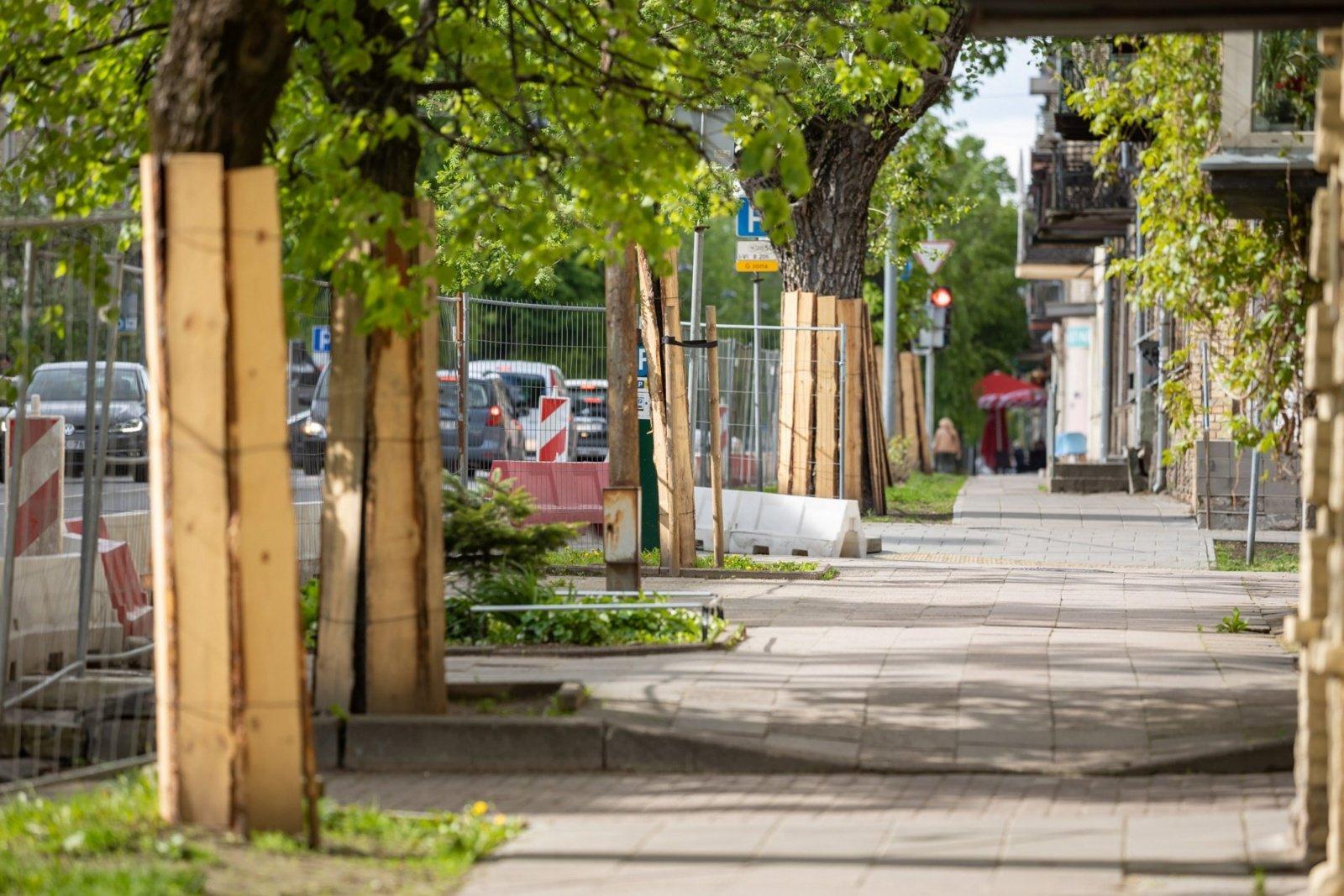 Pokyčiai Algirdo gatvėje: dviračių takai, daugiau želdynų ir jaukumo