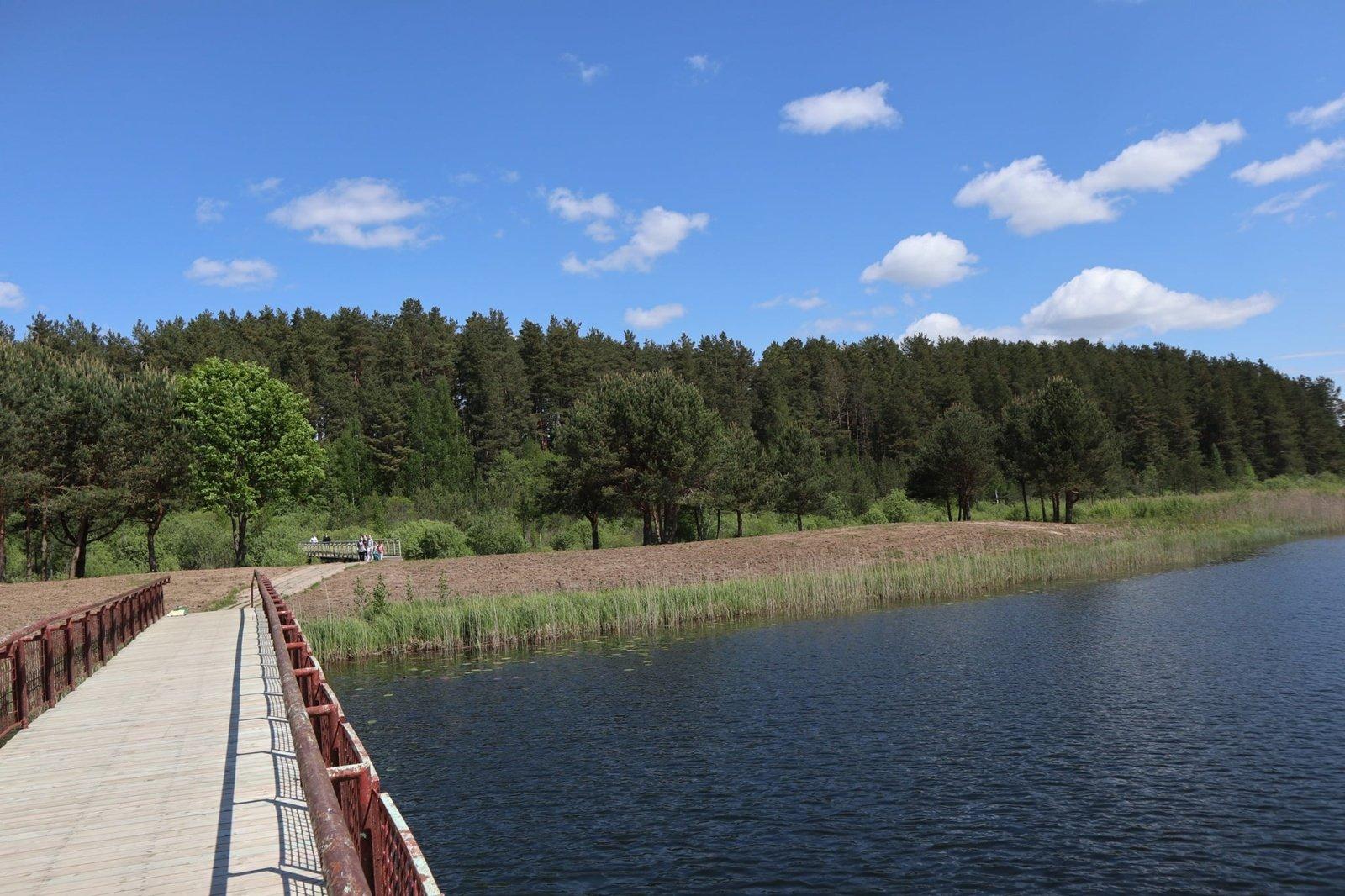 Bus dažomas Paplovinio ežero tiltas: reikalingi savanoriai