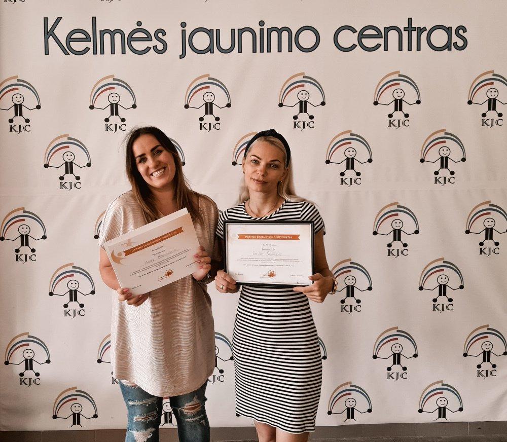 Kelmės jaunimo centro darbuotojos – vienintelės sertifikuotos jaunimo darbuotojos rajone