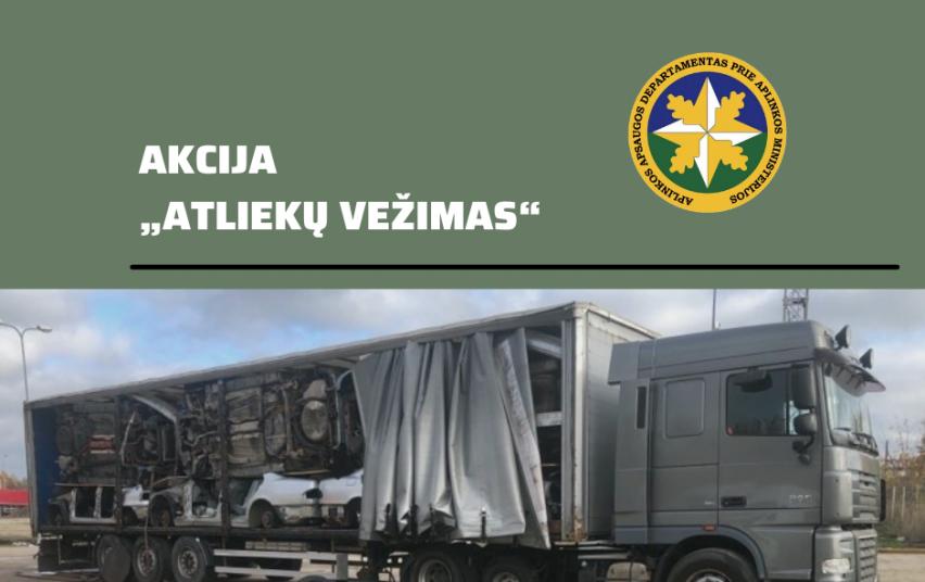 """""""Atliekų vežimas"""": Kauno valdybos pareigūnai tikrino statybinių atliekų vežėjus"""