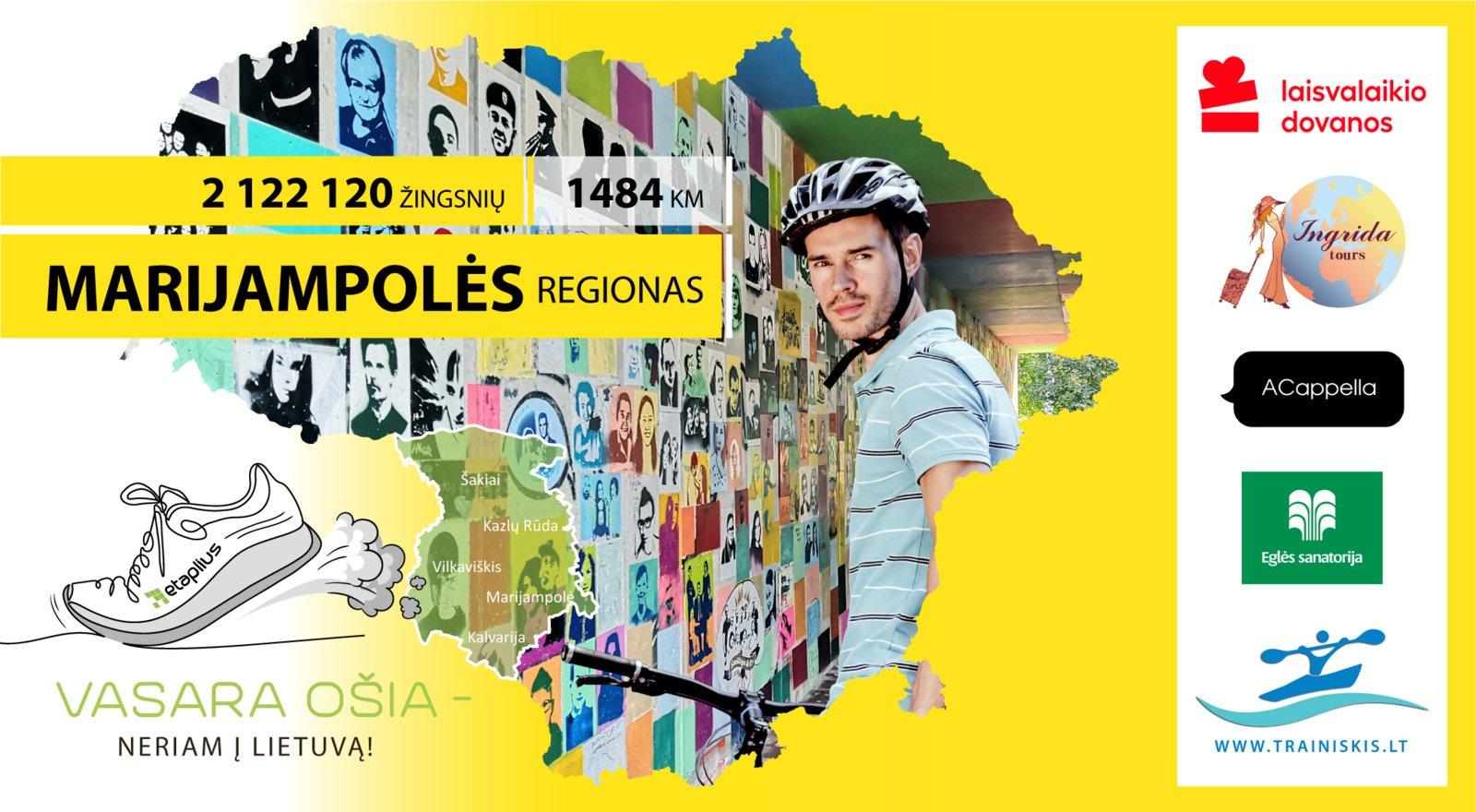 """Nauja iššūkio """"Vasara ošia – neriam į Lietuvą"""" savaitė: einame į Marijampolės regioną"""