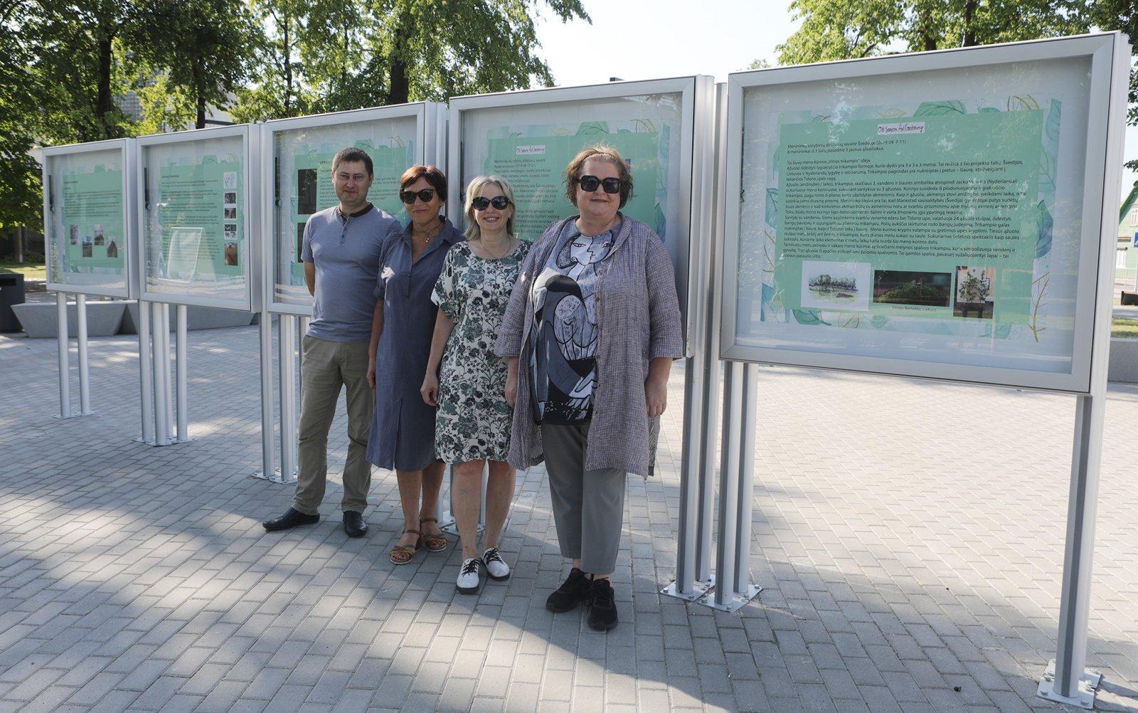Klaipėdos gatvės skvere – tarptautinio projekto darbų paroda