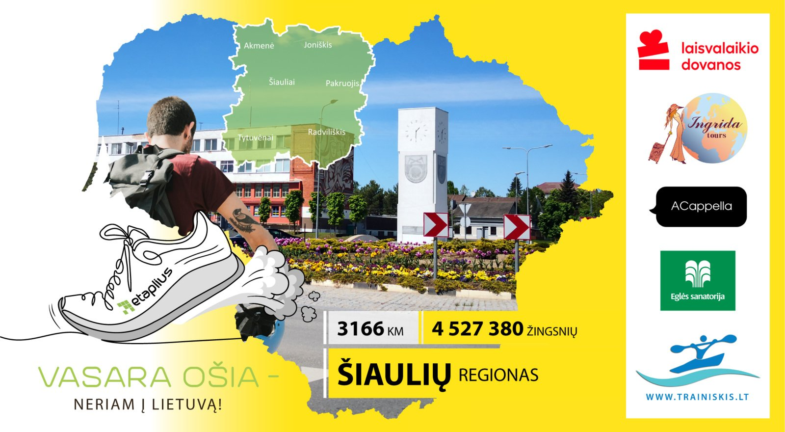 """Iššūkis """"Vasara ošia – neriam į Lietuvą"""" tęsiasi: keliaujame po Šiaulių regioną"""