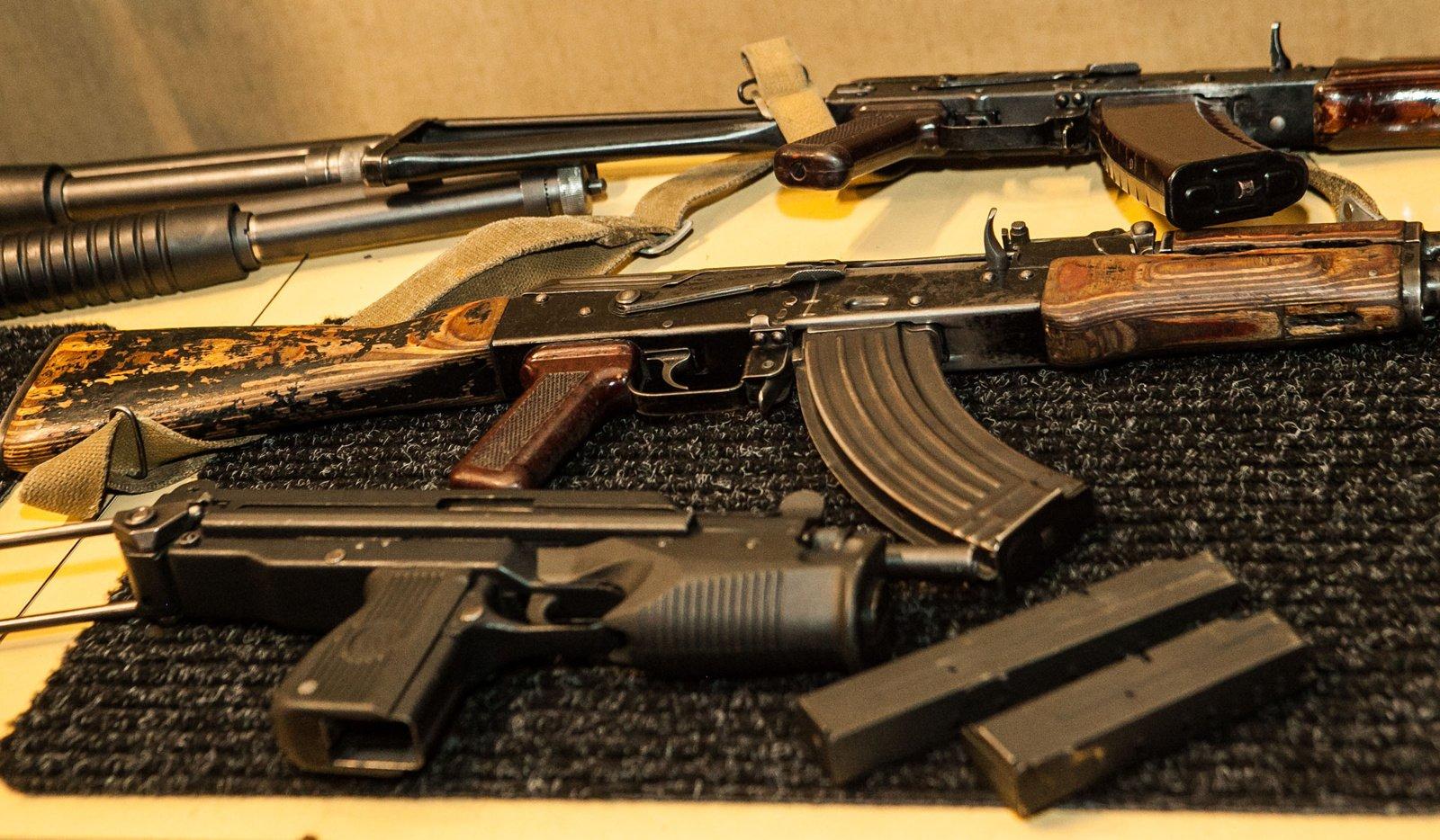 Marijampolėje iš muziejaus paimti šaunamieji ginklai
