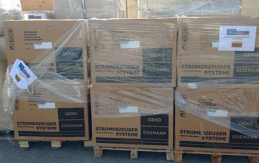 Austrija, Graikija ir Slovėnija atsiuntė humanitarinės pagalbos Lietuvai