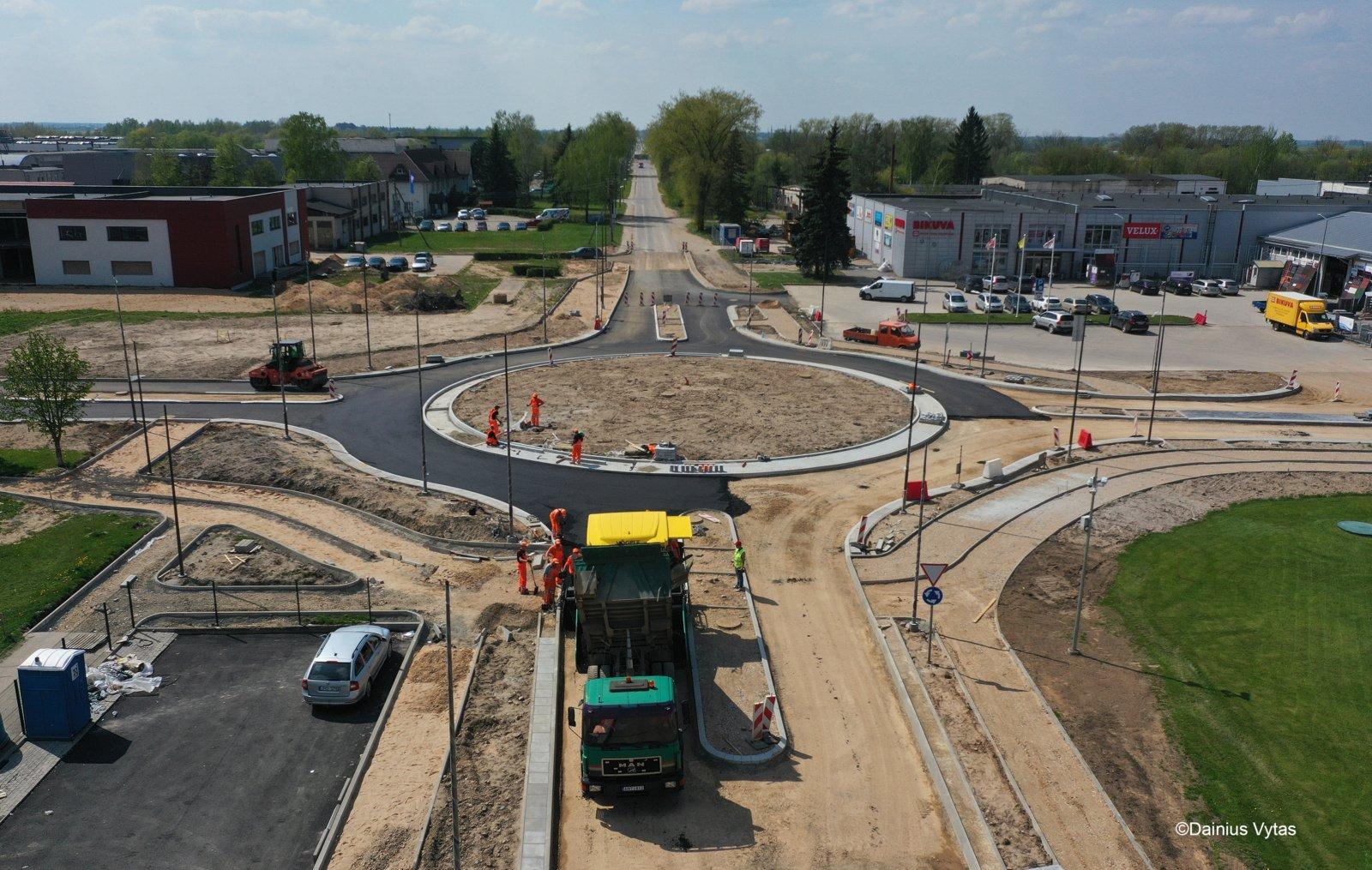 Ukmergėje žiedinėje sankryžoje bus ribojamas transporto eismas