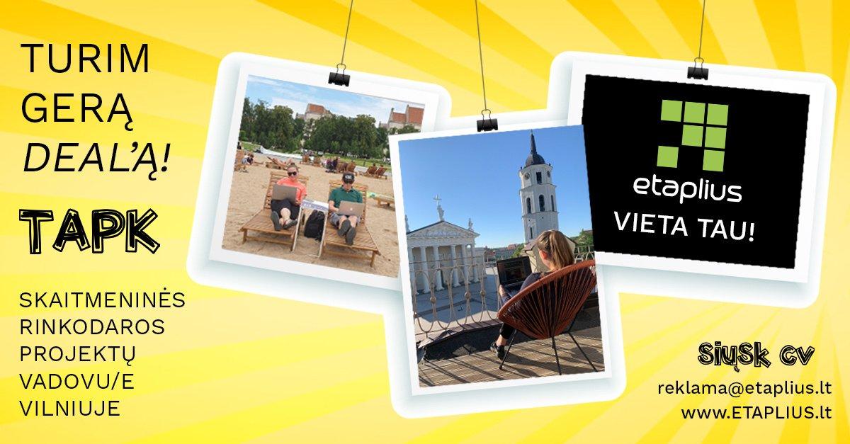 Ieškome skaitmeninės rinkodaros projektų vadovo(-ės) Vilniuje