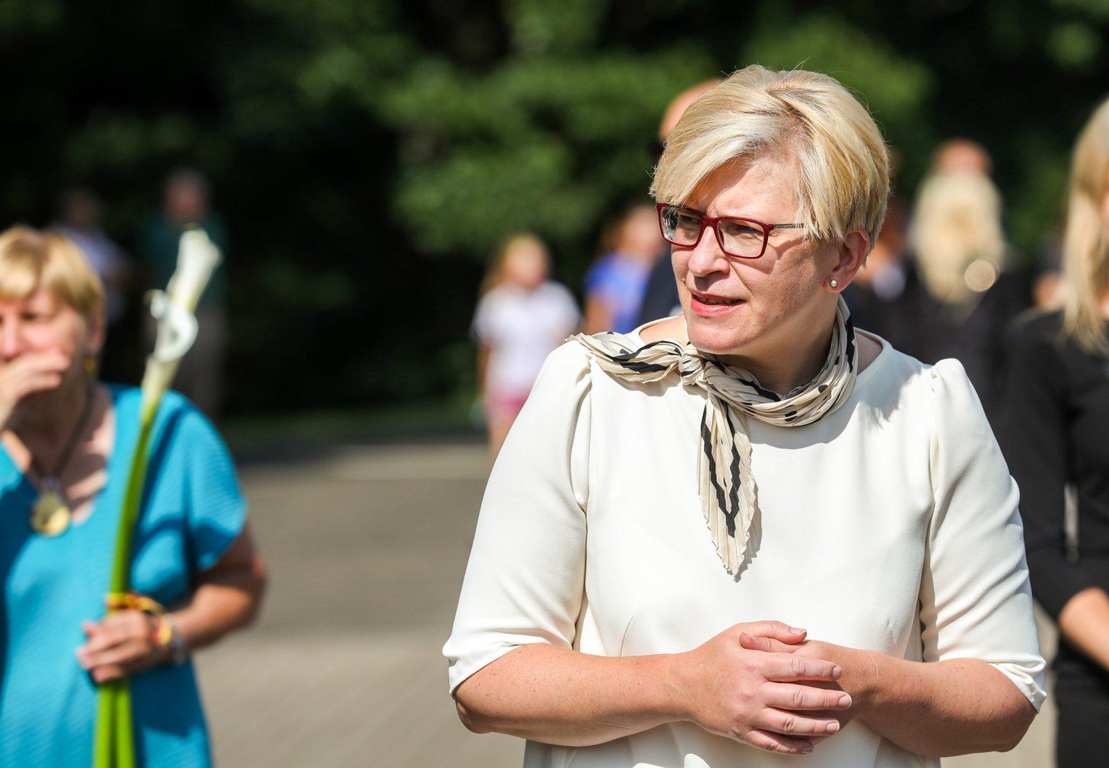 Premjerė I. Šimonytė Medininkuose: valstybės gynimas ir stiprinimas nėra vien politinės valdžios reikalas – tai visų pareiga