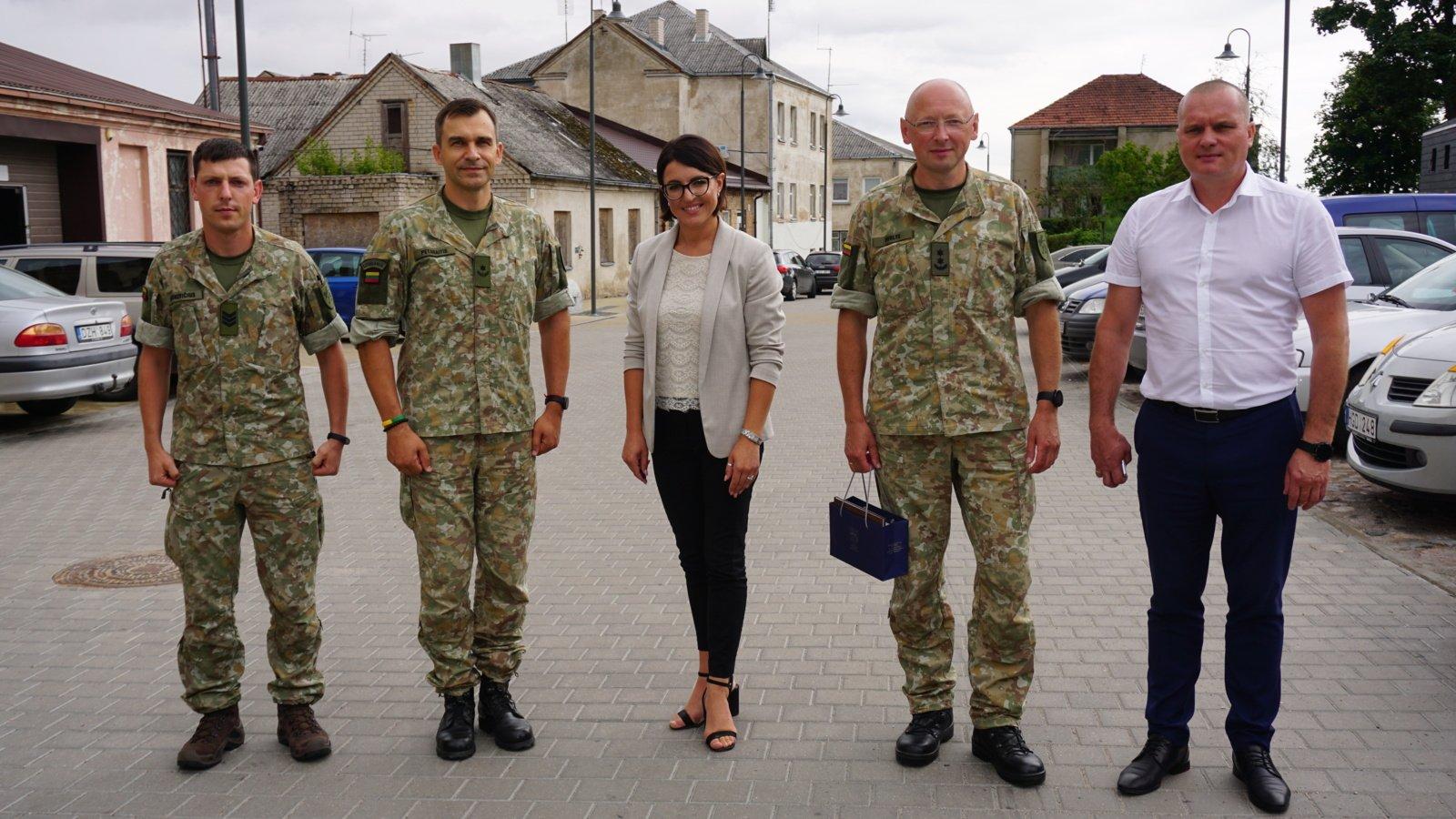 Ukmergėje lankėsi naujasis Kunigaikščio Vaidoto mechanizuotojo pėstininkų bataliono vadas
