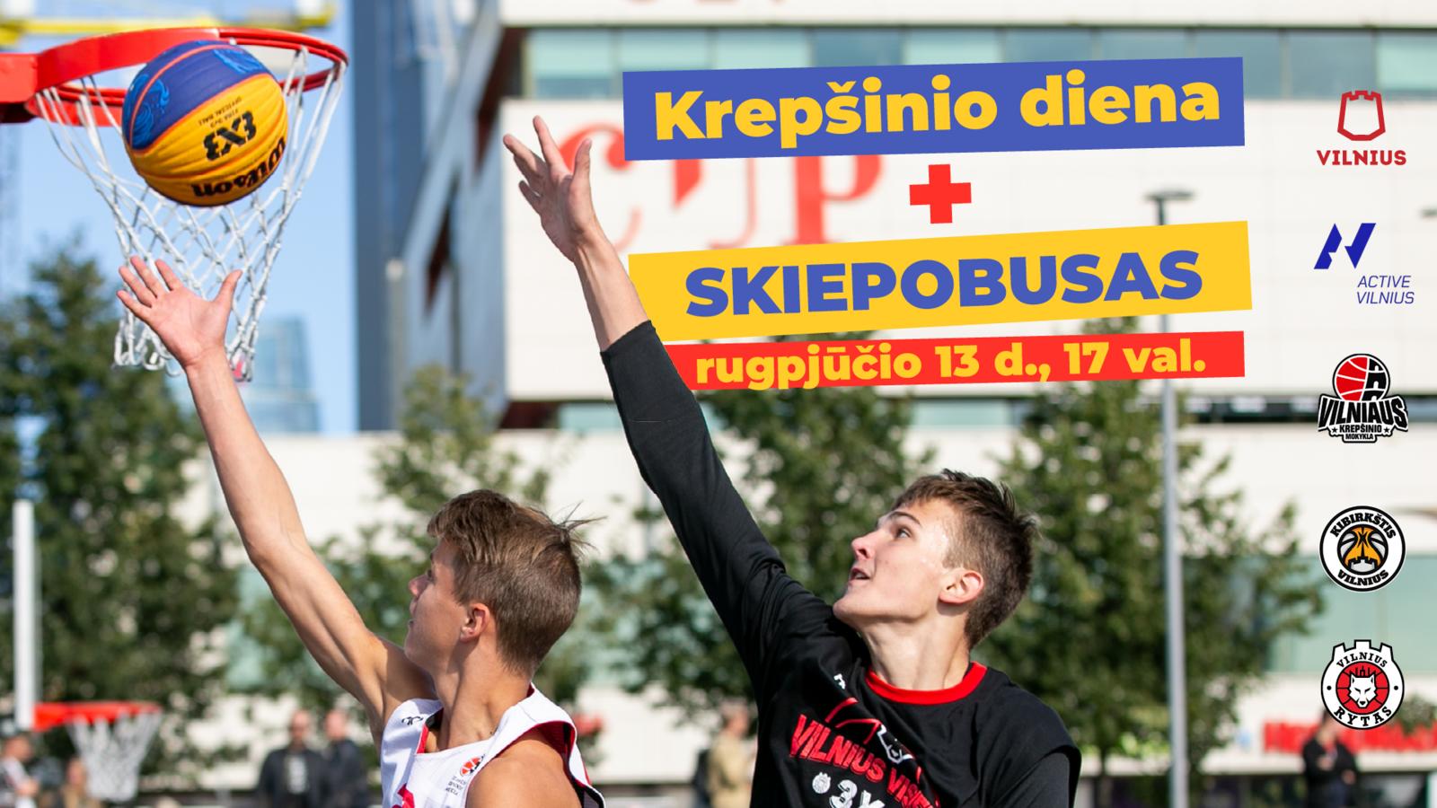 Vilniuje paaugliai bus kviečiami sportuoti su krepšinio žvaigždėmis ir gauti skiepą