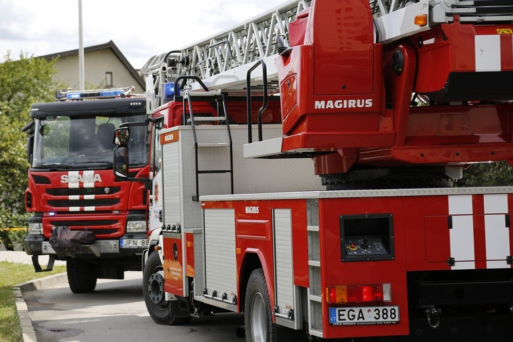 Ugniagesių pagalbos reikėjo ir policijai, ir gyventojams, ir gyvūnams