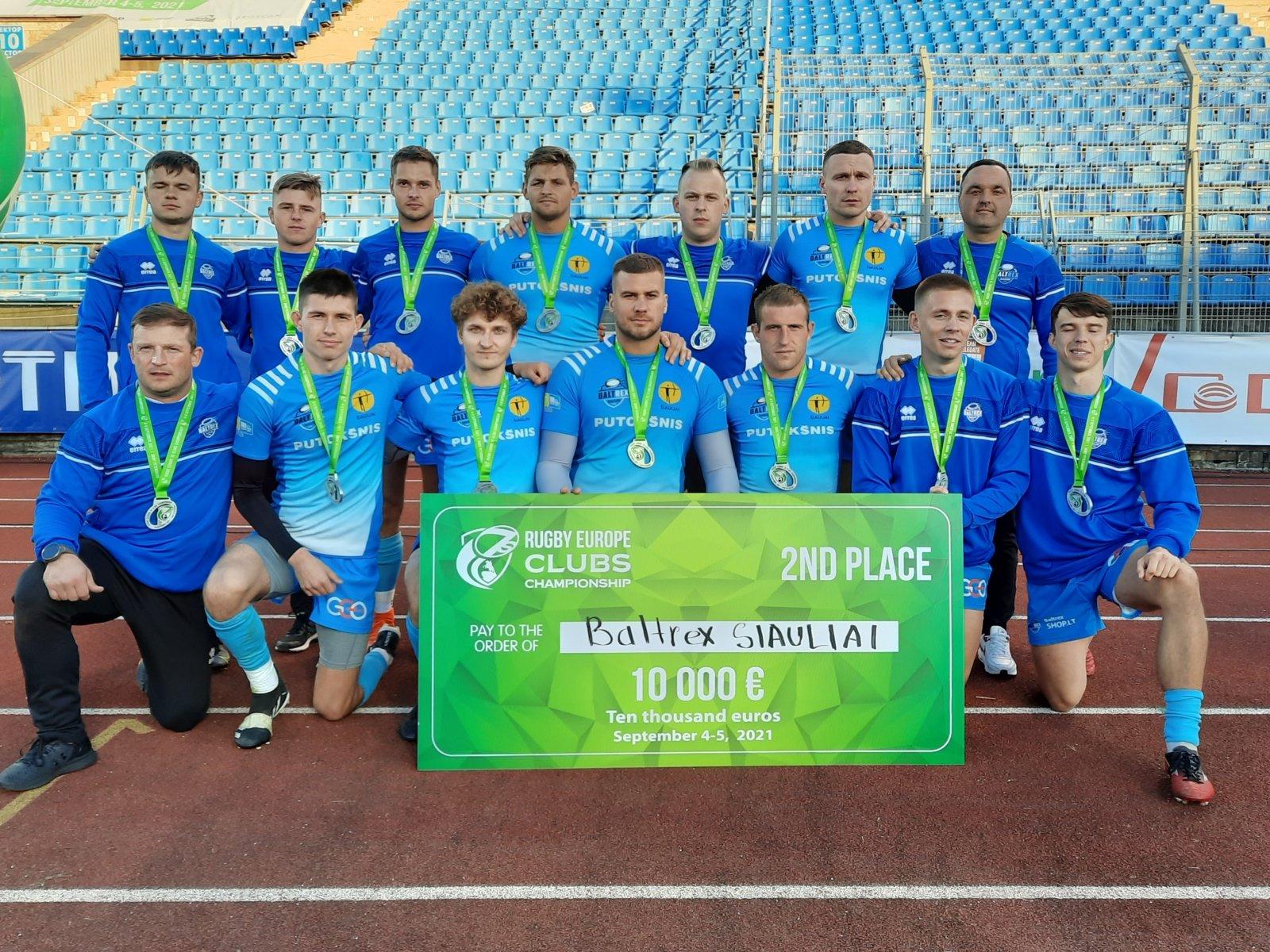 """""""BaltRex-Šiauliai"""" - Europos klubų čempionų taurės turnyro vicečempionai"""