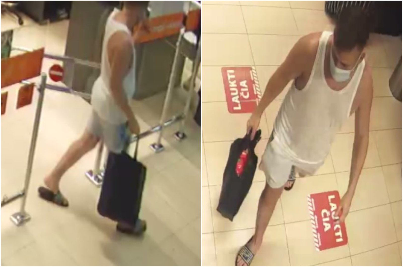 Alytaus policija prašo atpažinti vaizdo kameromis užfiksuotą vyrą
