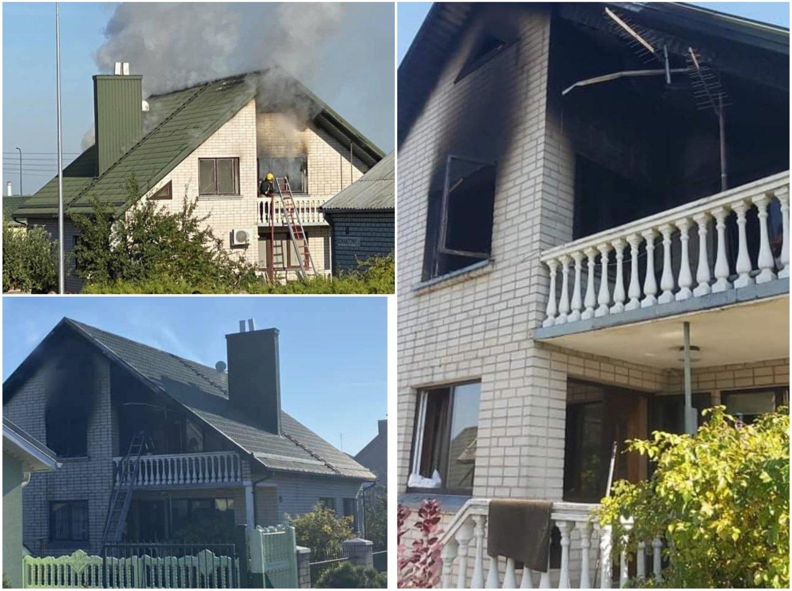 Jaunos alytiškių šeimos namuose kilo gaisras