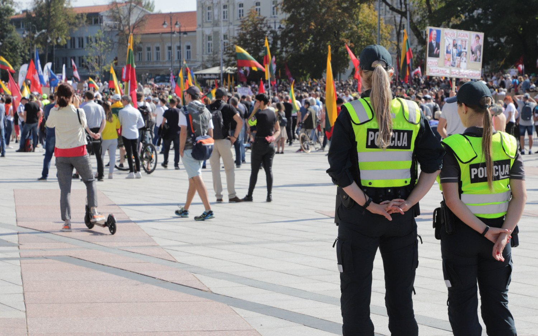 Visi per mitingą ir po mitingo Vilniuje sulaikyti asmenys paleisti į laisvę