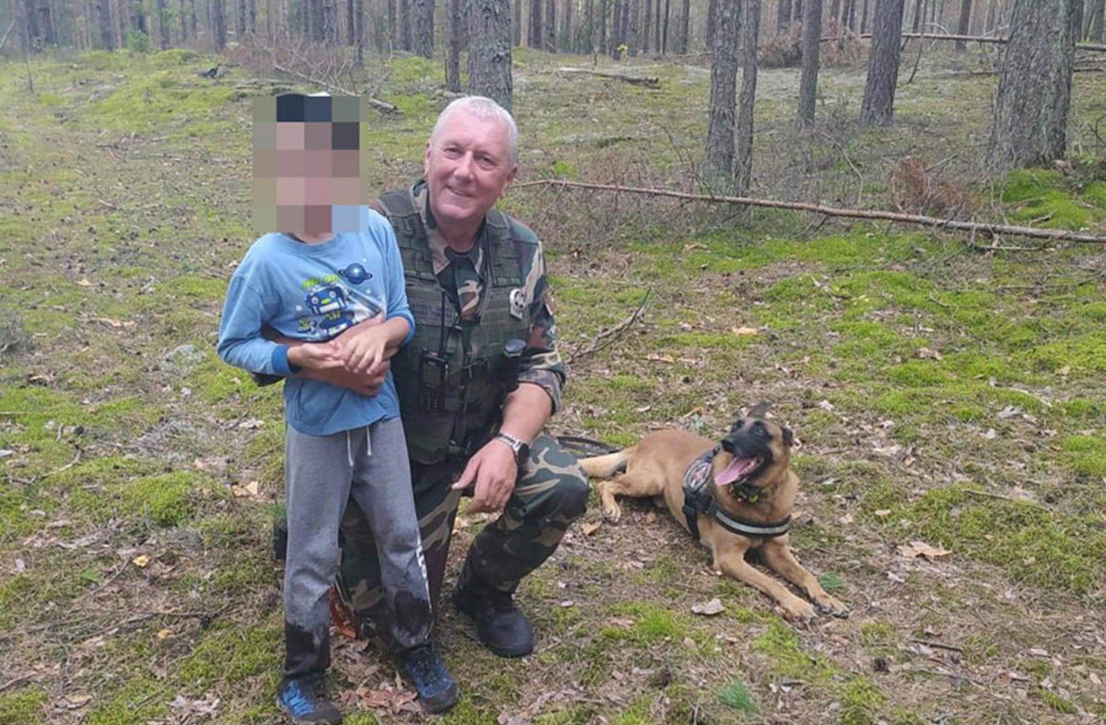 Varėnos rajone tarnybinis pasieniečių šuo surado dingusį vaiką