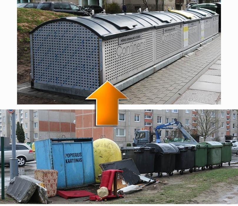 Mažeikiuose – dar daugiau pusiau požeminių konteinerių