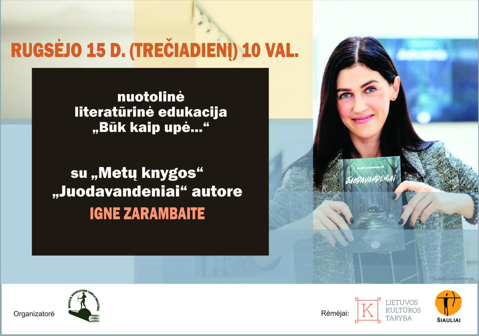 Nuotolinis susitikimas su rašytoja Igne Zarambaite