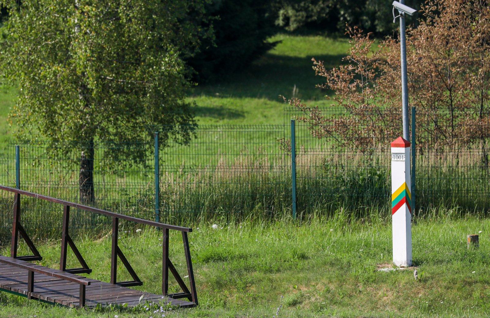 Naktį penki dokumentų neturėję užsieniečiai praleido Puškų užkardoje; įvykis tikslinamas