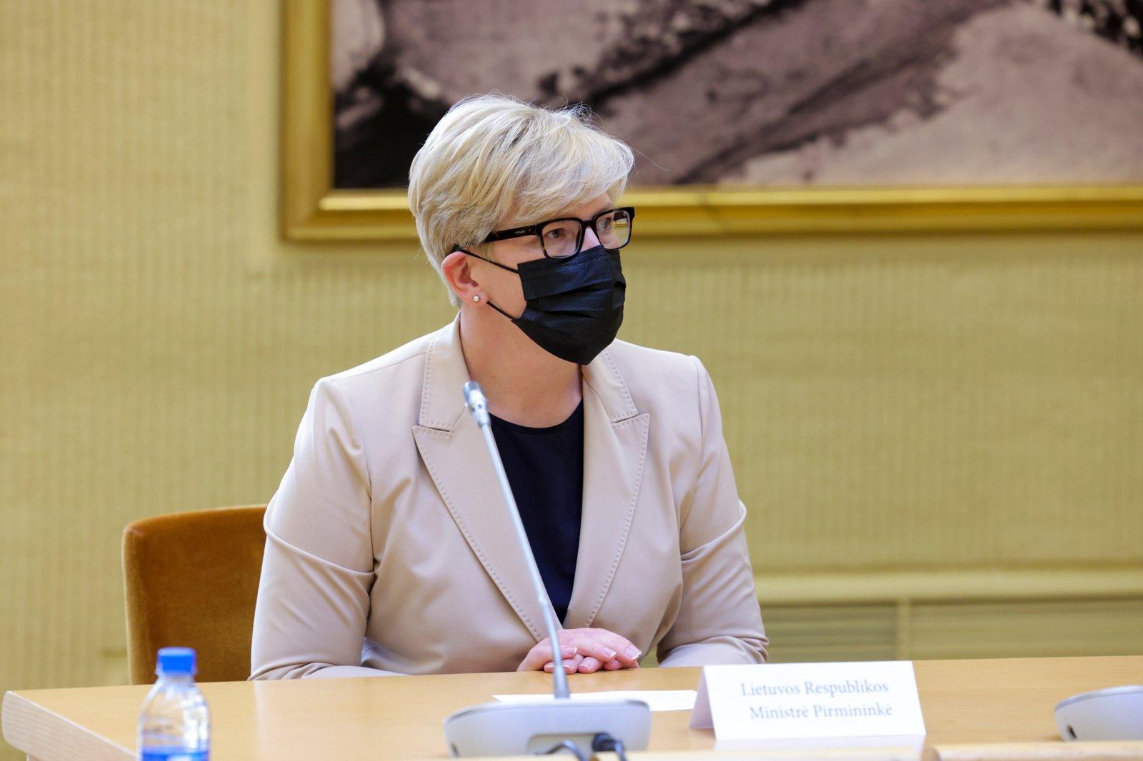 """I. Šimonytė įvertino situaciją dėl Lietuvos ambasadoriaus ES: prisiminė G. Nausėdos pasisakymą apie """"arklius brastoje"""""""
