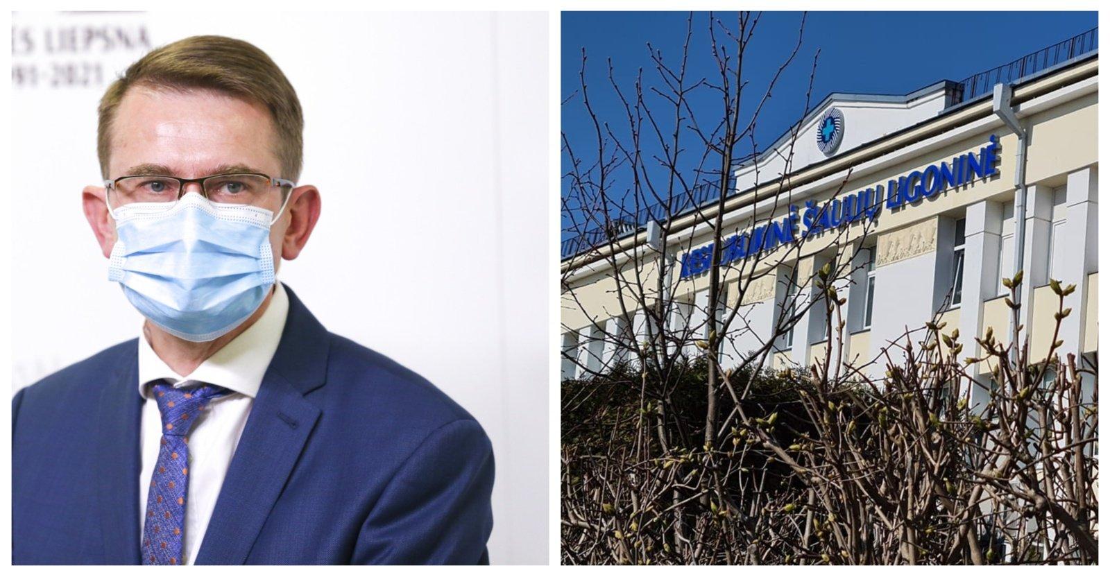 A. Dulkys jaučiasi ramus dėl Šiaulių ligoninės direktoriaus atšaukimo: nejaučiu sąžinės graužaties