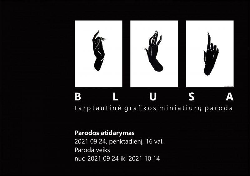 """Tarptautinės grafikos miniatiūrų parodos """"BLUSA"""" atidarymas"""