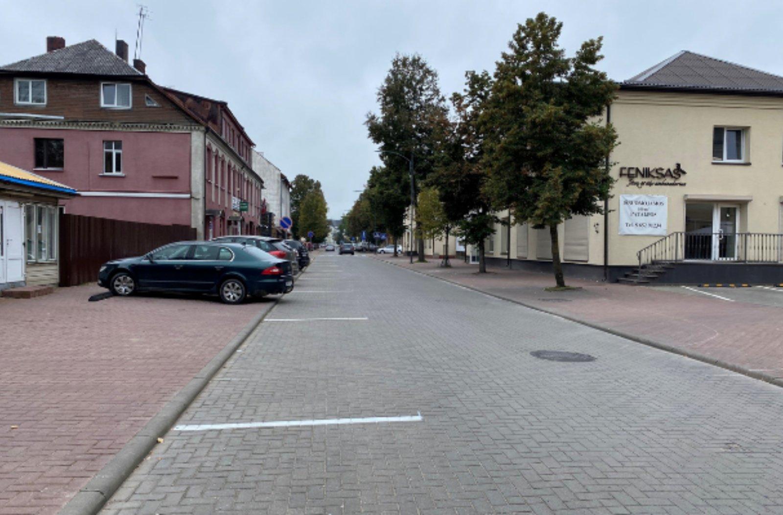 Tauragės miesto centre – nauja automobilių statymo tvarka