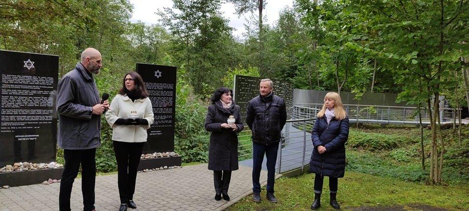 Biržuose paminėta žydų genocido diena