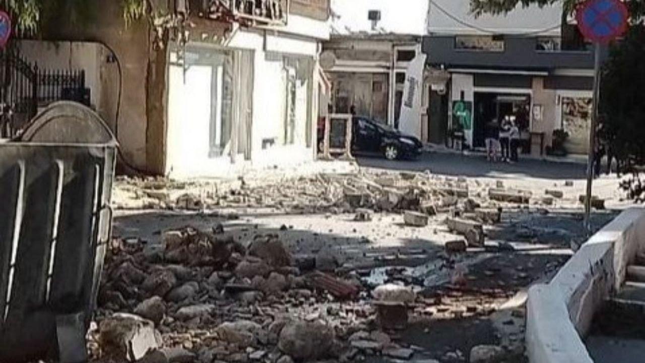 Kretoje per žemės drebėjimą žuvo žmogus, 20 sužeista (vaizdo įrašas)