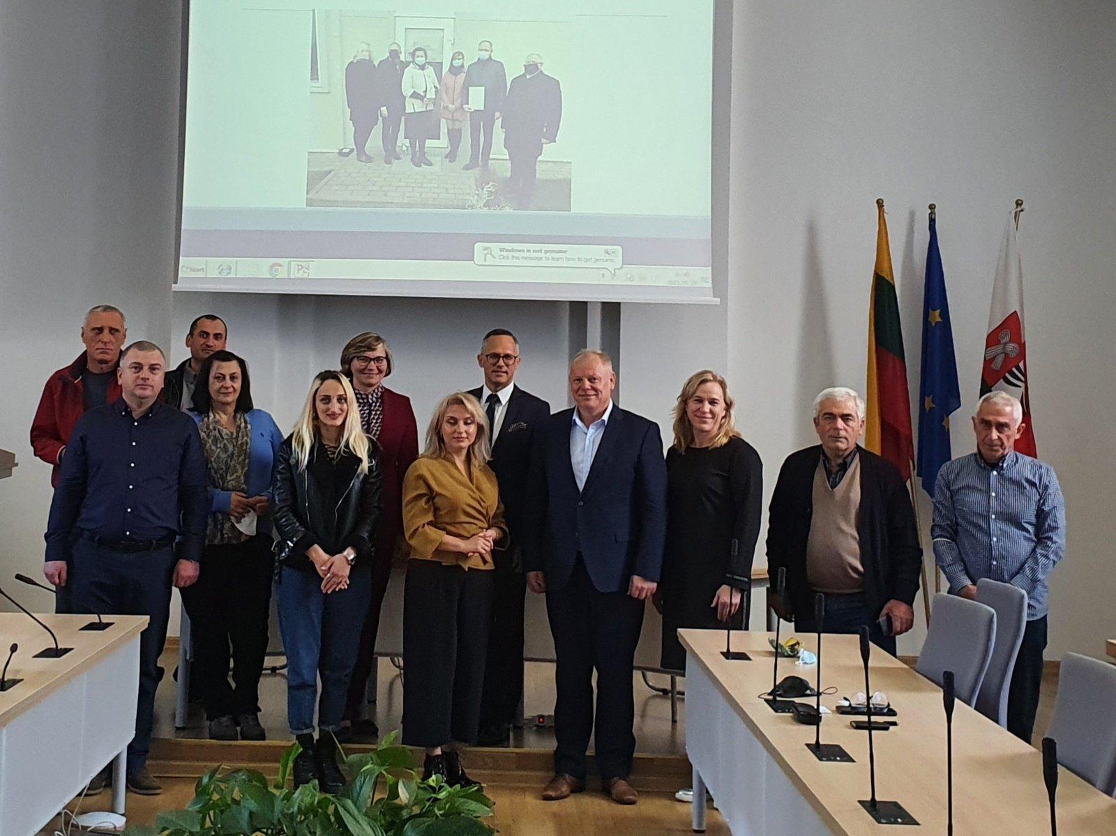 Šakiuose viešėjo verslininkų delegacija iš Sakartvelo
