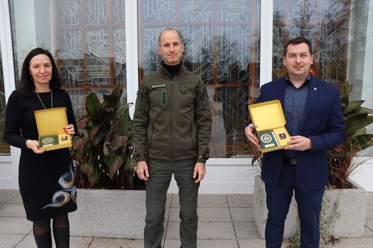 Savivaldybės vadovai apdovanoti už nuopelnus valstybės sienos apsaugai