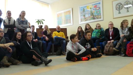 """""""Saulėtekio"""" gimnazijos paroda – akcija """"Lietuva prasideda čia"""""""