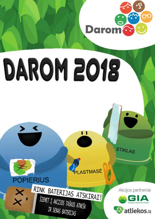 """Akcija """"DAROM 2018"""" 11-ąjį kartą visus kvies susitvarkyti aplinką"""
