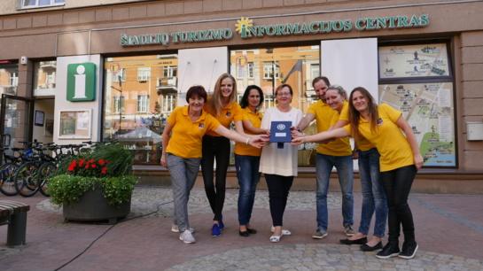 Šiaulių turizmo centras įvertintas už inovatyvumą ir įgyvendintus pokyčius
