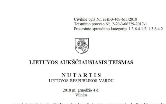 Aukščiausiasis teismas: Savivaldybė teisi, o Šiaulių teismai klydo!