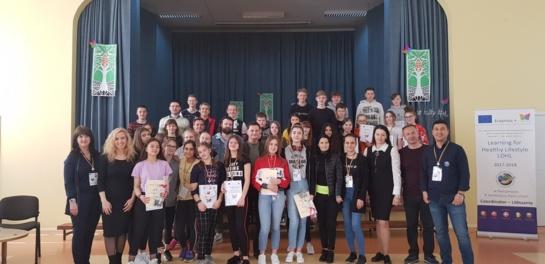 """Paskutinis """"Erasmus+"""" projekto """"Mokomės gyventi sveikai"""" susitikimas Lietuvoje"""
