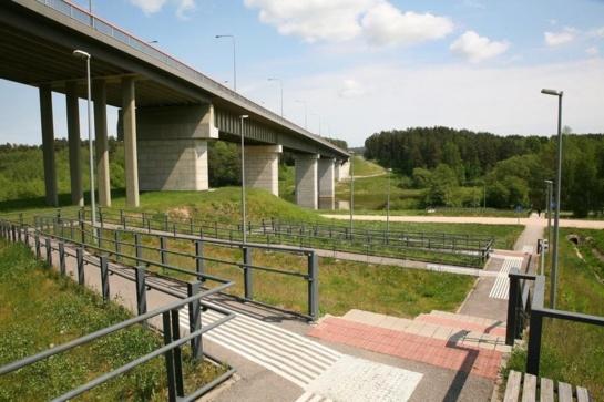 Nuo tilto Alytuje nušoko moteris su mažamečiu