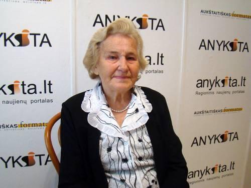 Anykščių rajono garbės pilietei Primai Petrylienei sukako 90 metų