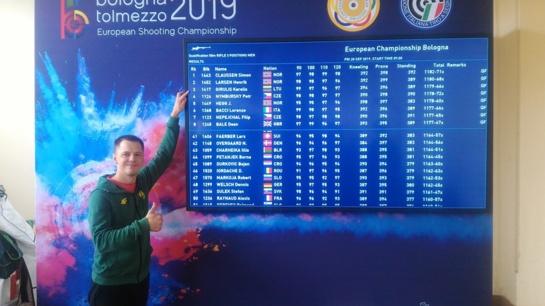 Lietuvos rekordą pagerinęs šaulys K. Girulis - Europos čempionato finale