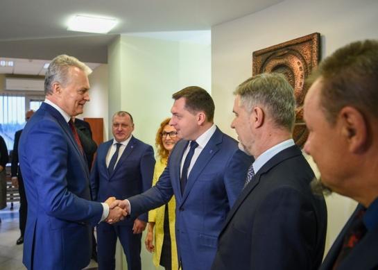 Meras dalyvavo susitikime su Lietuvos Respublikos Prezidentu