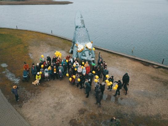 Šiauliečiai sveikino Geležinę lapę su 10-tuoju gimtadieniu