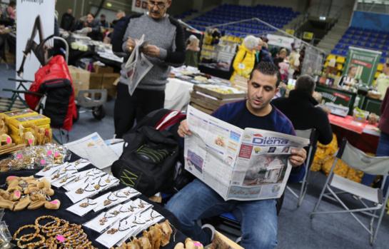 Į mugę svečiai iš Palestinos atvežė neįprastų dirbinių