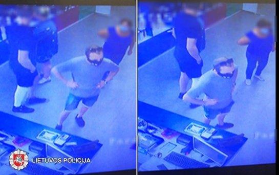 Panevėžyje ieškomas kojos įtvarą iš parduotuvės pavogęs vyras