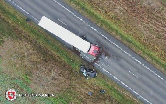 Slidi kelio danga tapo išbandymu Panevėžio vairuotojams