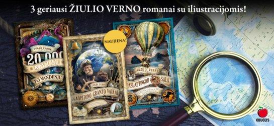 Geriausia vasaros DOVANA vaikams – 3 kolekcinių Žiulio Verno romanų rinkinys, kuris išpildys svajones ir dovanos nepamirštamus nuotykius