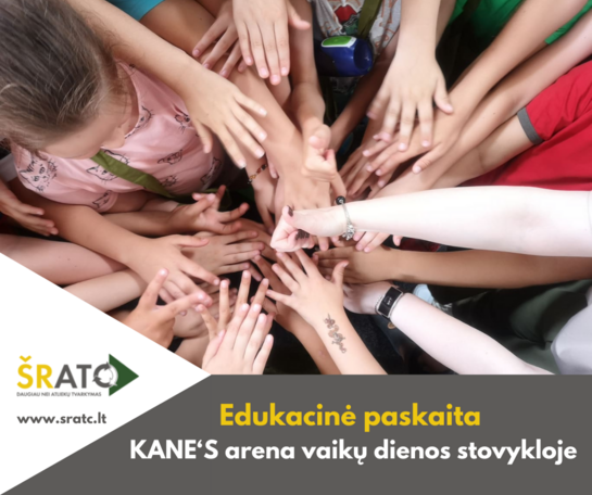 Edukacinė paskaita KANE'S arena dienos stovyklos vaikams